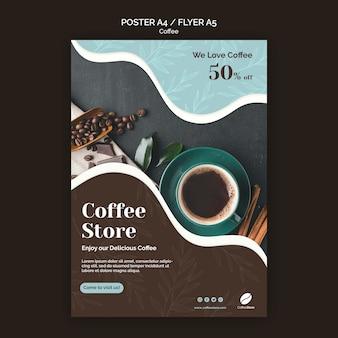 Modello di poster del negozio di caffè