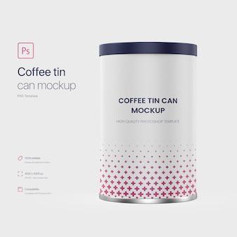 Mockup di latta di caffè