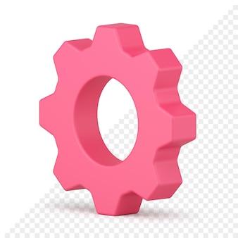 Icona 3d della ruota dentata