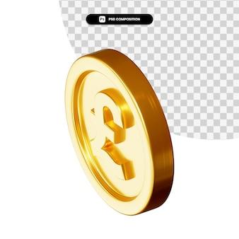 Moneta 3d rendering isolato