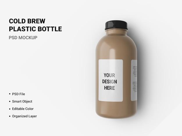Cold brew bottiglia di plastica mockup isolato