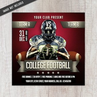 Volantino college football league Psd Premium