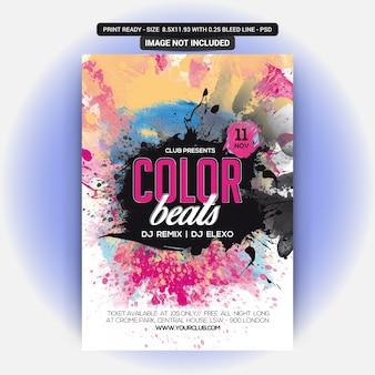 Volantino a colori beats