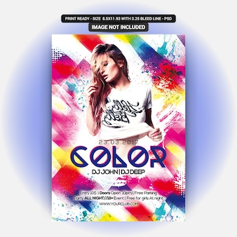 Color party flyer