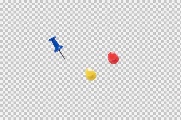 Pin di colore isolato su sfondo bianco