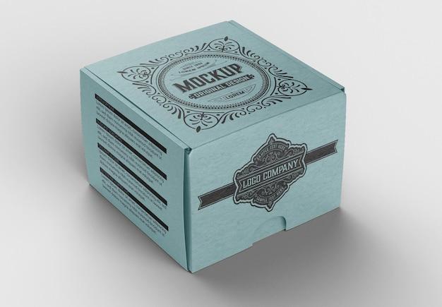 Mockup di scatola colorata