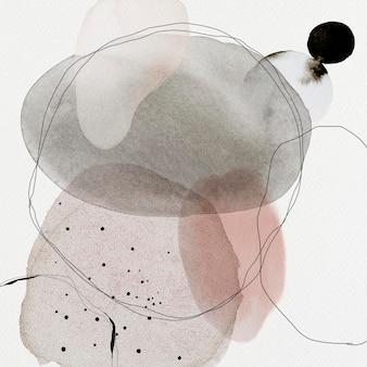 Illustrazione del modello di annunci sociali dei cerchi astratti variopinti dell'acquerello