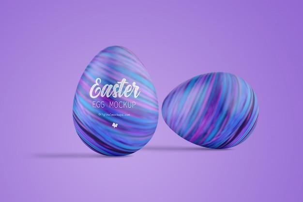 Modello variopinto delle uova di pasqua