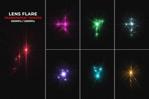 Luce di riflesso lente colorata isolata
