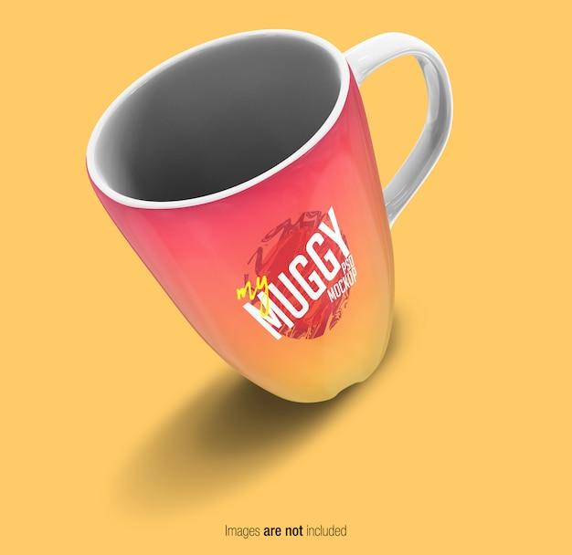 Vista prospettica tazza colorata