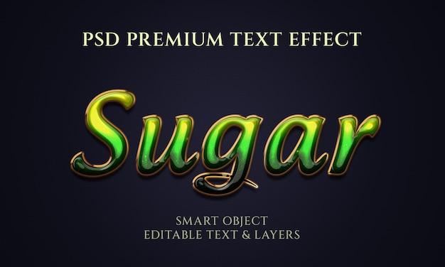 Effetto testo colorato in zucchero