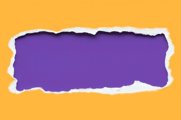 Design di mockup di carta strappata colorata