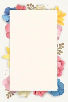 Mockup di cornice floreale colorata e tropicale
