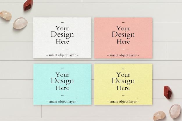 Colorfull design mockup di carta orizzontale
