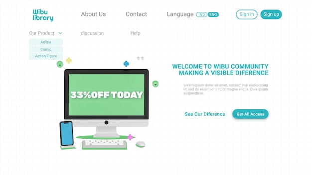 Design della pagina di destinazione della community