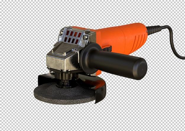 Smerigliatrice angolare compatta isolata. attrezzatura utilizzata da falegnami e fabbri