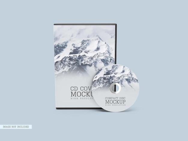 Compact disc con mockup di copertina