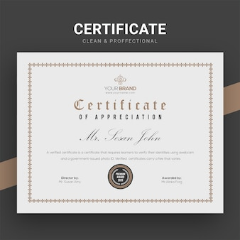 Modello di certificato aziendale