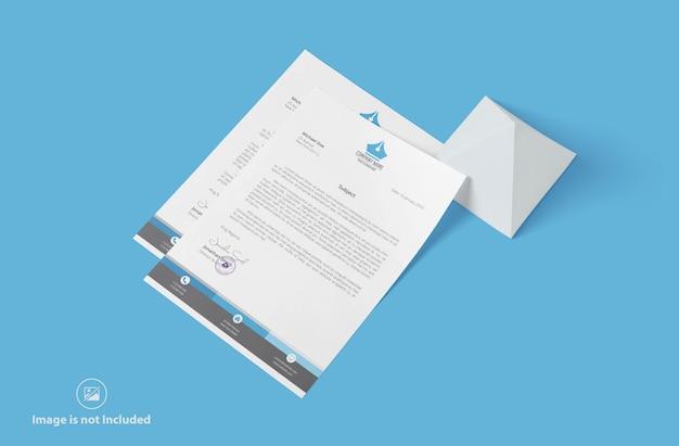 Carta intestata aziendale mockup