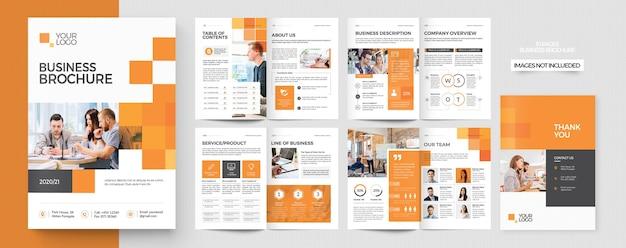 Modello di post sui social media brochure profilo aziendale
