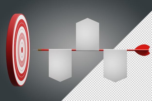 Vantaggio competitivo, illustrazione 3d di concetto di marketing strategico