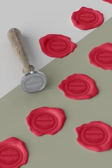 Composizione del sigillo mock-up per busta