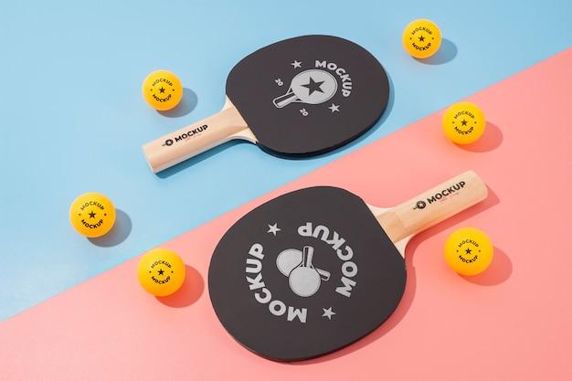 Composizione di elementi sportivi mock-up