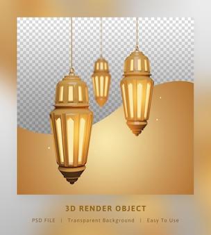 Concetto dell'elemento lanterna araba oro