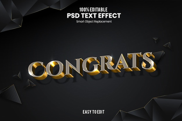 Congratulazioni effetto testo