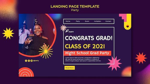 Modello di pagina di destinazione della festa di congratulazioni