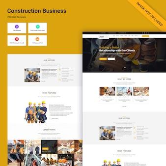 Interfaccia utente del sito web di costruzione