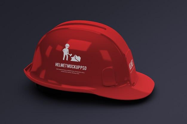 Mockup di casco da costruzione isolato