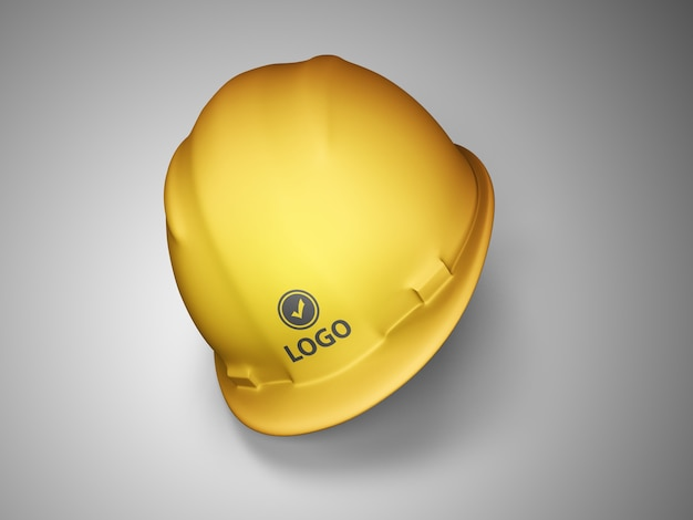 Mockup di casco da costruzione