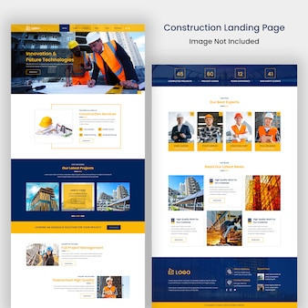 Modello di sito web di costruzione