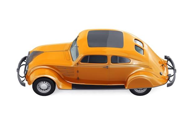 Mockup di auto vecchia convertibile