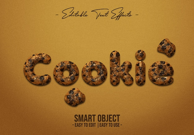 Cookie-text-style-effect