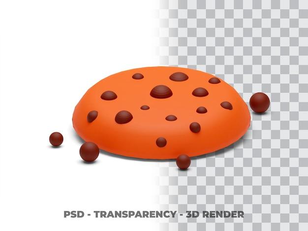 Cookies trasparenza rendering 3d