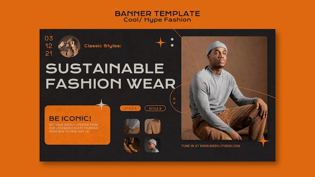 Modello di banner di moda cool