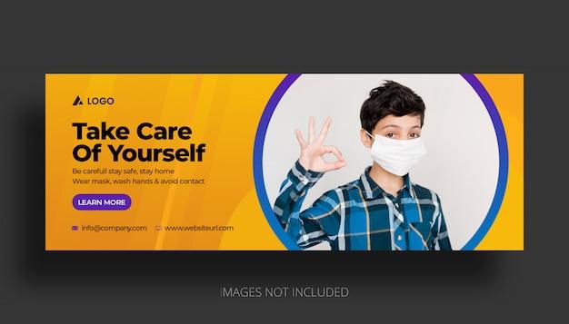 Modello di copertina facebook di coronavirus