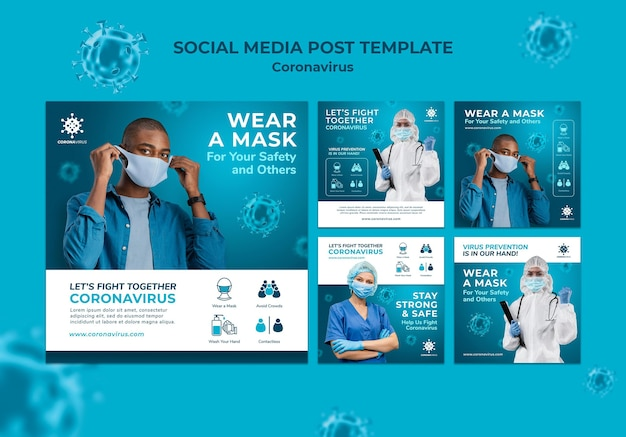 Coronavirus modello di post sui social media