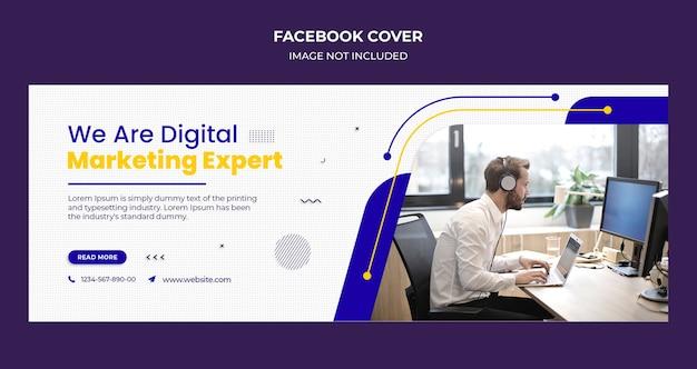 Modello di copertina di facebook e banner web dell'agenzia di affari corporativi