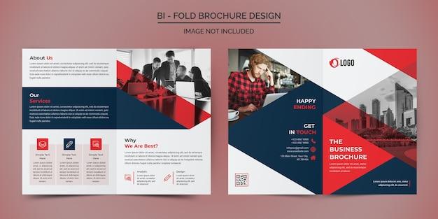 Modello di progettazione brochure aziendale bifold
