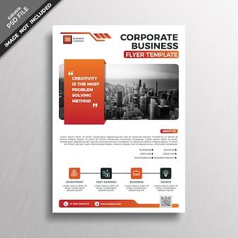 Modello di copertina brochure aziendale aziendale