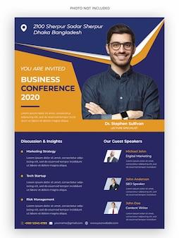 Modello di volantino conferenza conferenza aziendale