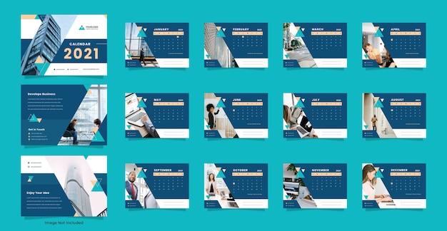 Modello di calendario da scrivania aziendale e aziendale