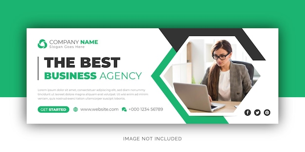 Corporate business digital marketing agency copertina facebook e modello di progettazione banner web