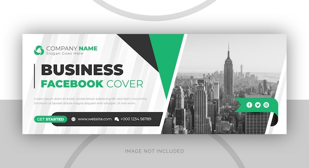 Modello di copertina di facebook e banner web dell'agenzia di marketing digitale aziendale aziendale