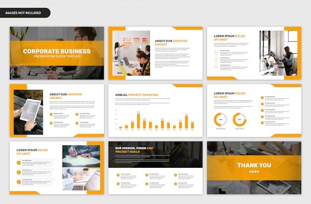 Modello di cursore presentazione aziendale aziendale