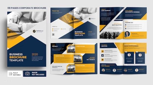 Modello dell'opuscolo delle pagine del profilo aziendale