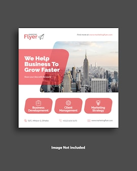 Corporate business social media banner template design